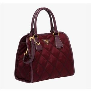New Prada Quilted  Nylon and Leather Bag